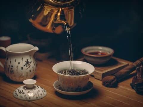 service du thé vert