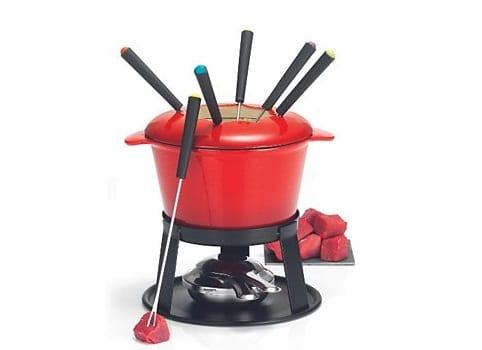 Fondue en fonte rouge Table & Cook
