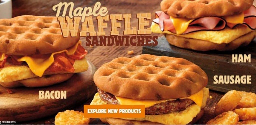 waffle burger king
