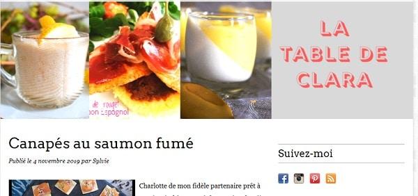table clara cuisine