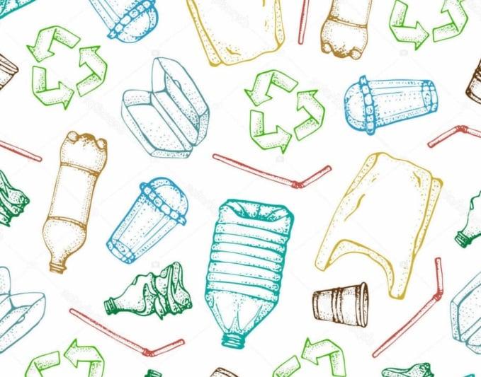 dessin contenants en plastique