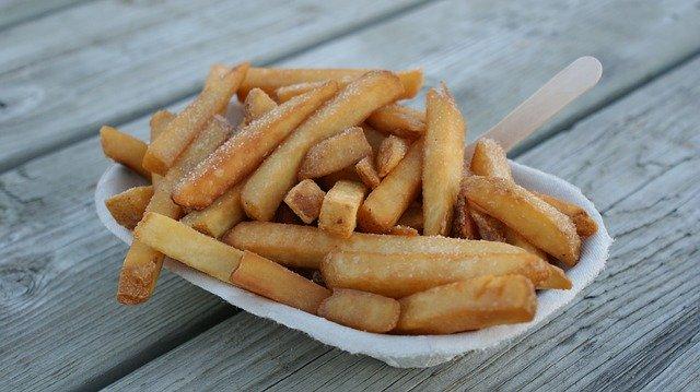 portions de frites délicieuses