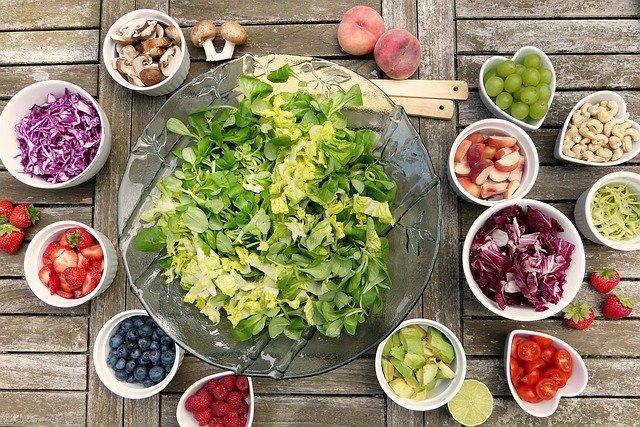 préparation d'une salade