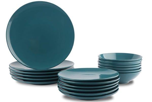 assiette design verte foncée et creuse