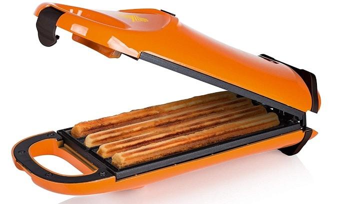 machine à churros refermable orange