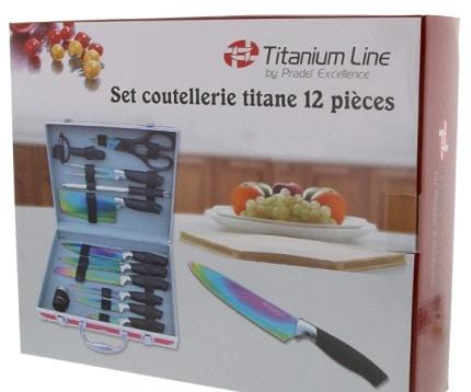 Malette de couteaux - 12 pièces en titane- Pradel
