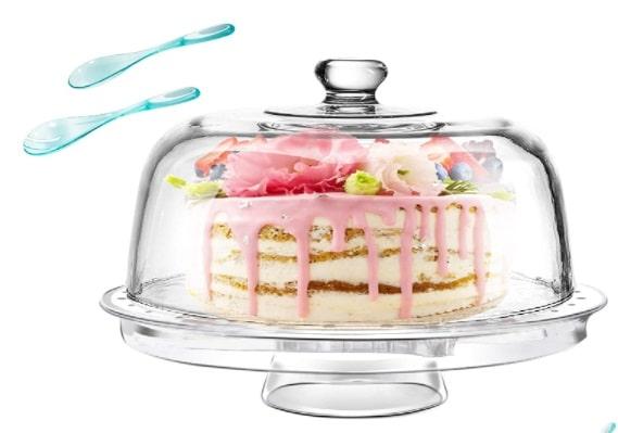 présentoir à gâteau avec cloche