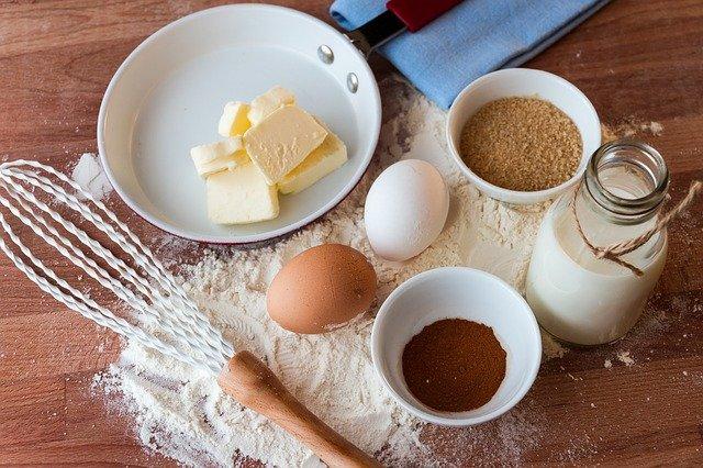 ingrédients pour une recette de pain